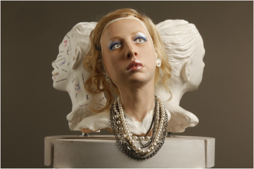 Purity, Culture and Art, plaster portrait sculpture by Billie Bond